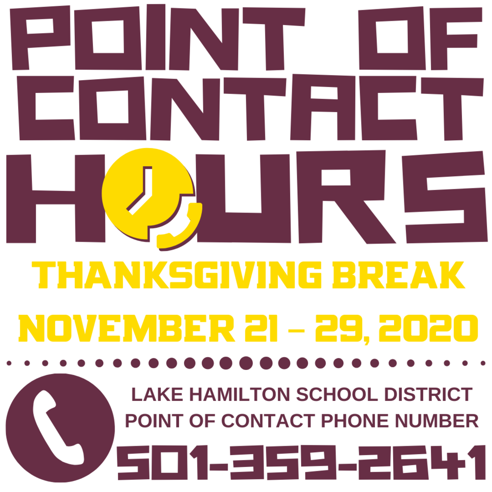Point of Contact Hours during Thanksgiving Break