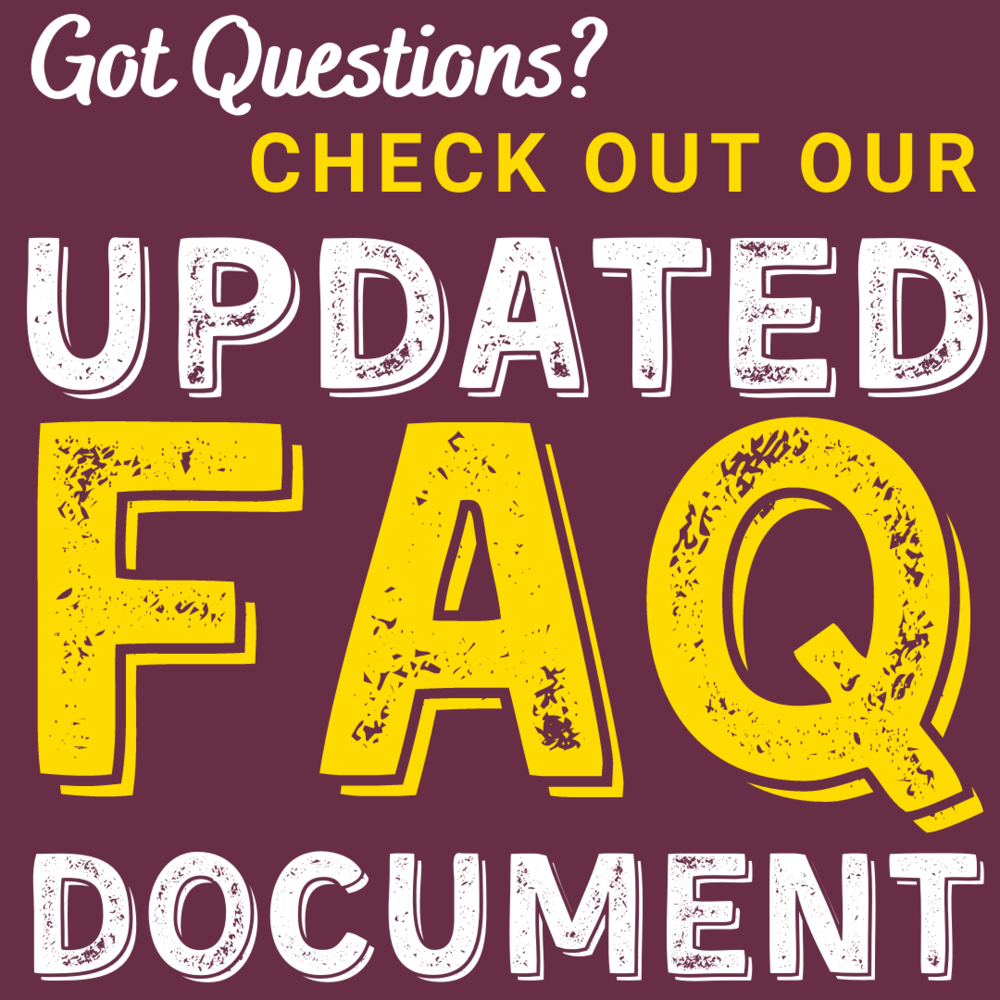 Check out our updated FAQ's