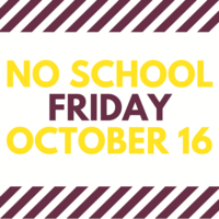 No School on October 16